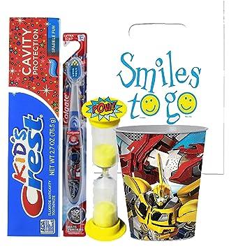 Amazon.com: Transformers 4pc juego de brillante sonrisa ...