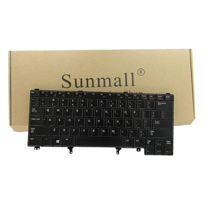 Sunmall Replacement Backlight Keyboard For Dell Latitude E5420 E5430 E6220 E6320 E6330 E6420 E6430 E6440 series US Layout BLACK