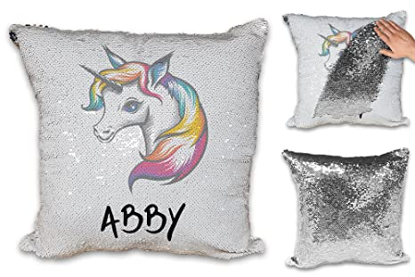 Personalizado Cute Rainbow Unicorn lentejuelas Reveal Magic ...