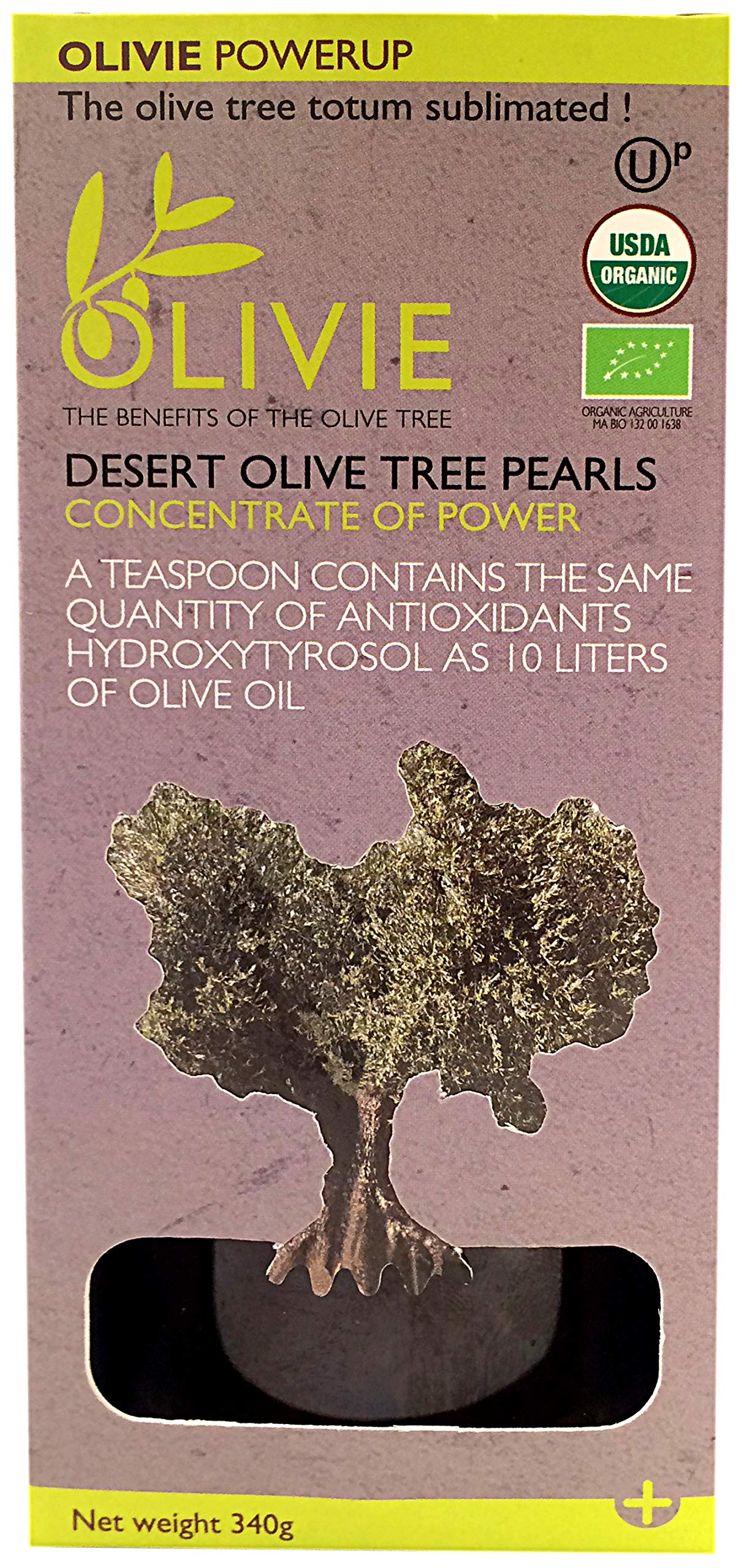 Olivie, Desert Olive Tree Pearls, Imported from Morocco, 11.99 oz by Olivie