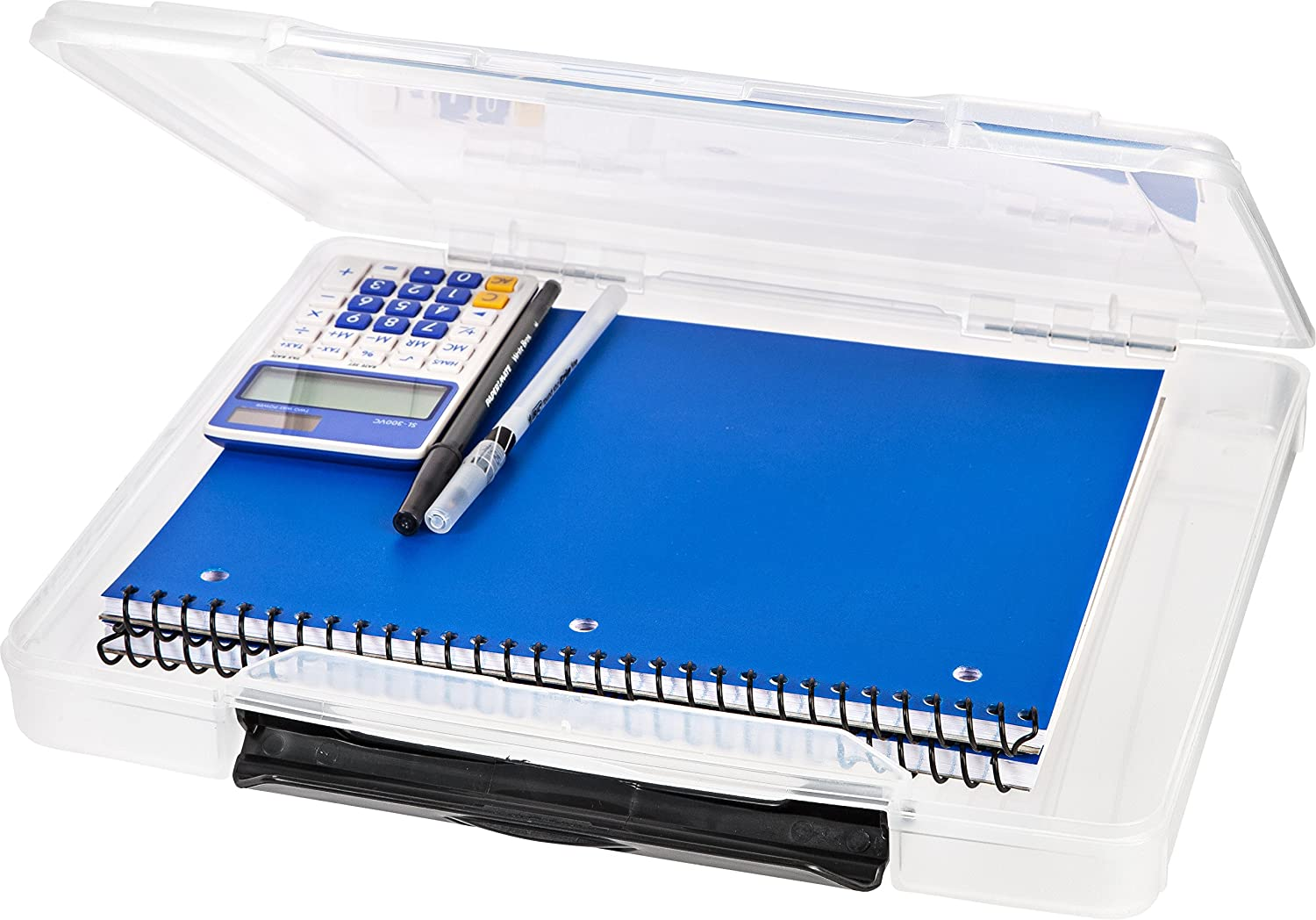 IRIS USA Portable Project Case with Buckle, Clear, 150380, 12-3/4 x 10-19/50 x 1-16/25 Inches