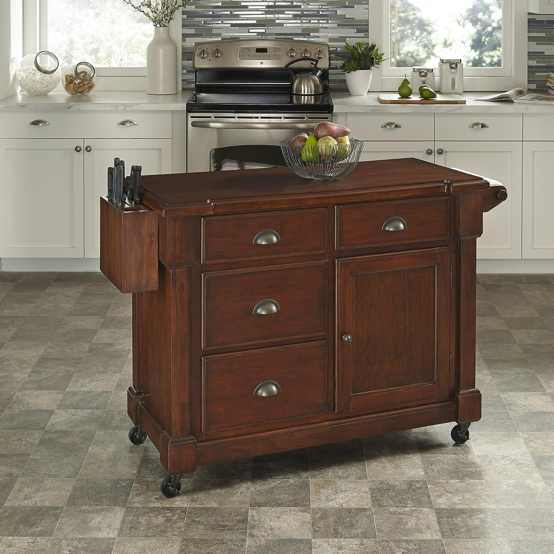 amazoncom home styles aspen collection kitchen cart kitchen u0026 dining