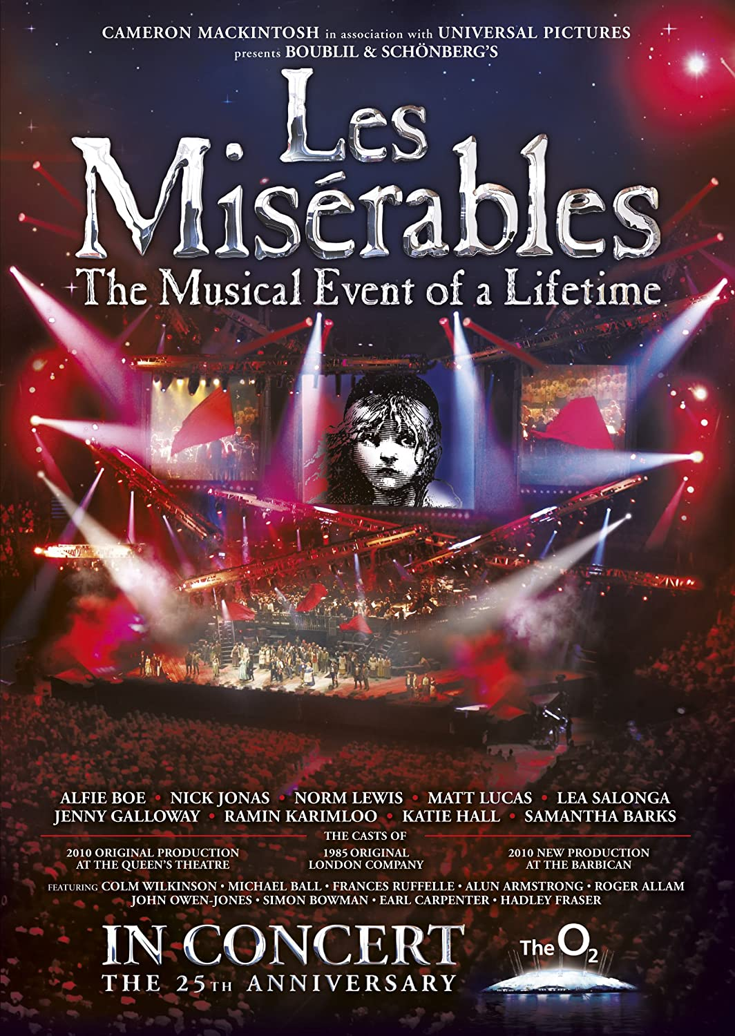 les miserables the th anniversary in concert at the o dvd  les miserables the 25th anniversary in concert at the o2 dvd amazon co uk alfie boe nick jonas norm lewis matt lucas colm wilkinson michael ball