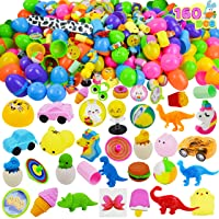 JOYIN 160 PCS Prefilled Easter Eggs with Assorted Toys, Easter Stuffed Eggs for Easter Egg Hunt Supplies, Easter Basket Stuffers Fillers, Easter Classroom Prizes, Easter Party Favors