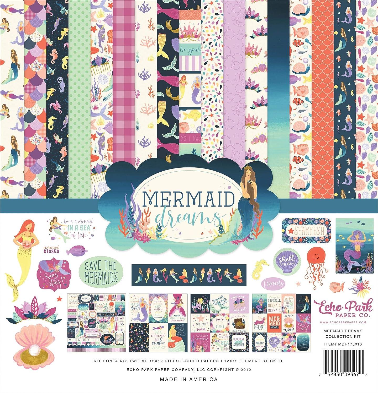 Echo Park Paper DR175016 Echo Park Collection Kit 12X12-Mermaid Dreams Multi