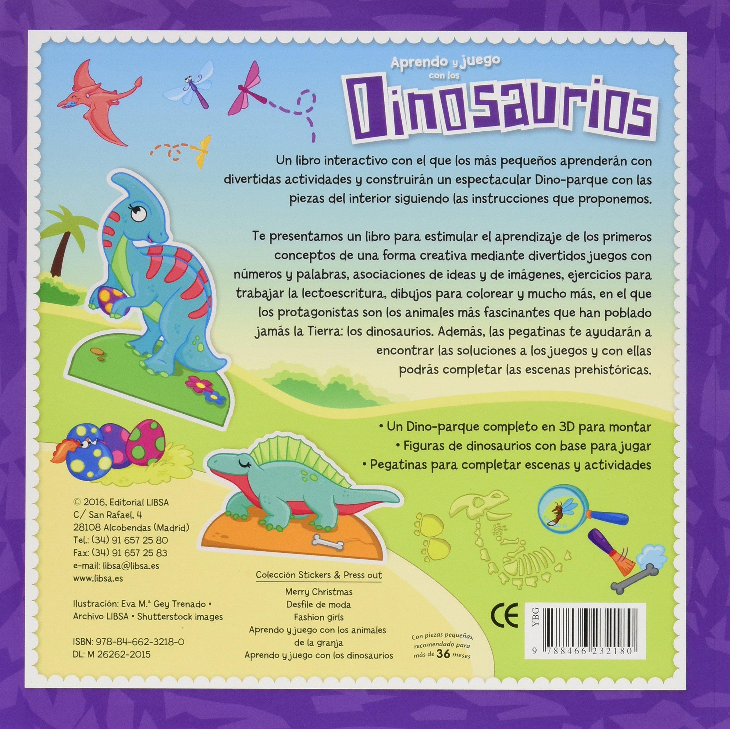 Aprendo y Juego con los Dinosaurios: EDITORIAL LIBSA: 9788466232180: Amazon.com: Books
