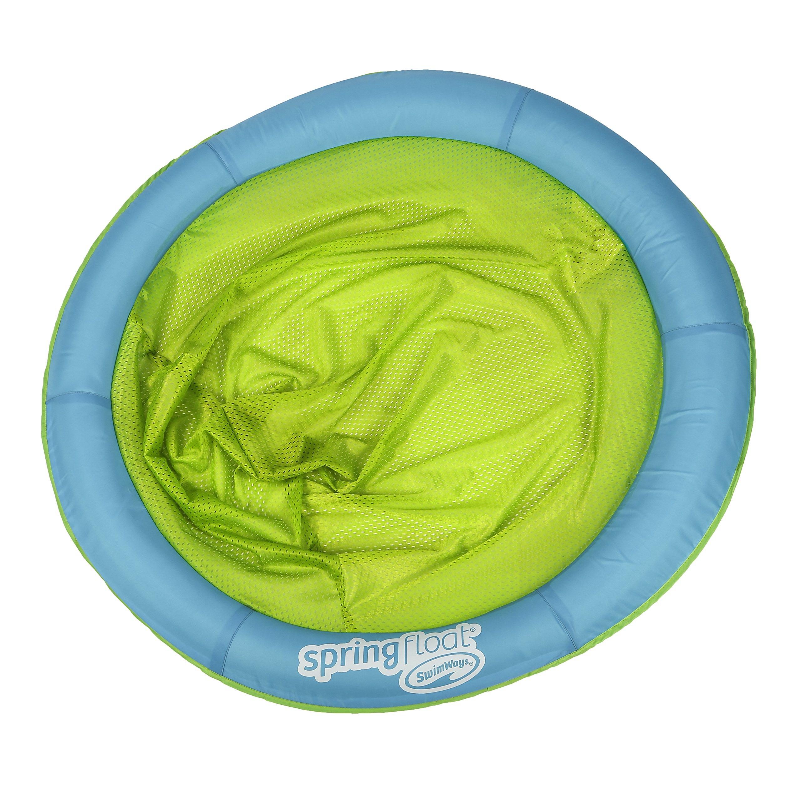 SwimWays Spring Float Papasan - Mesh Float for Pool or Lake - Light Blue/Lime by SwimWays (Image #1)