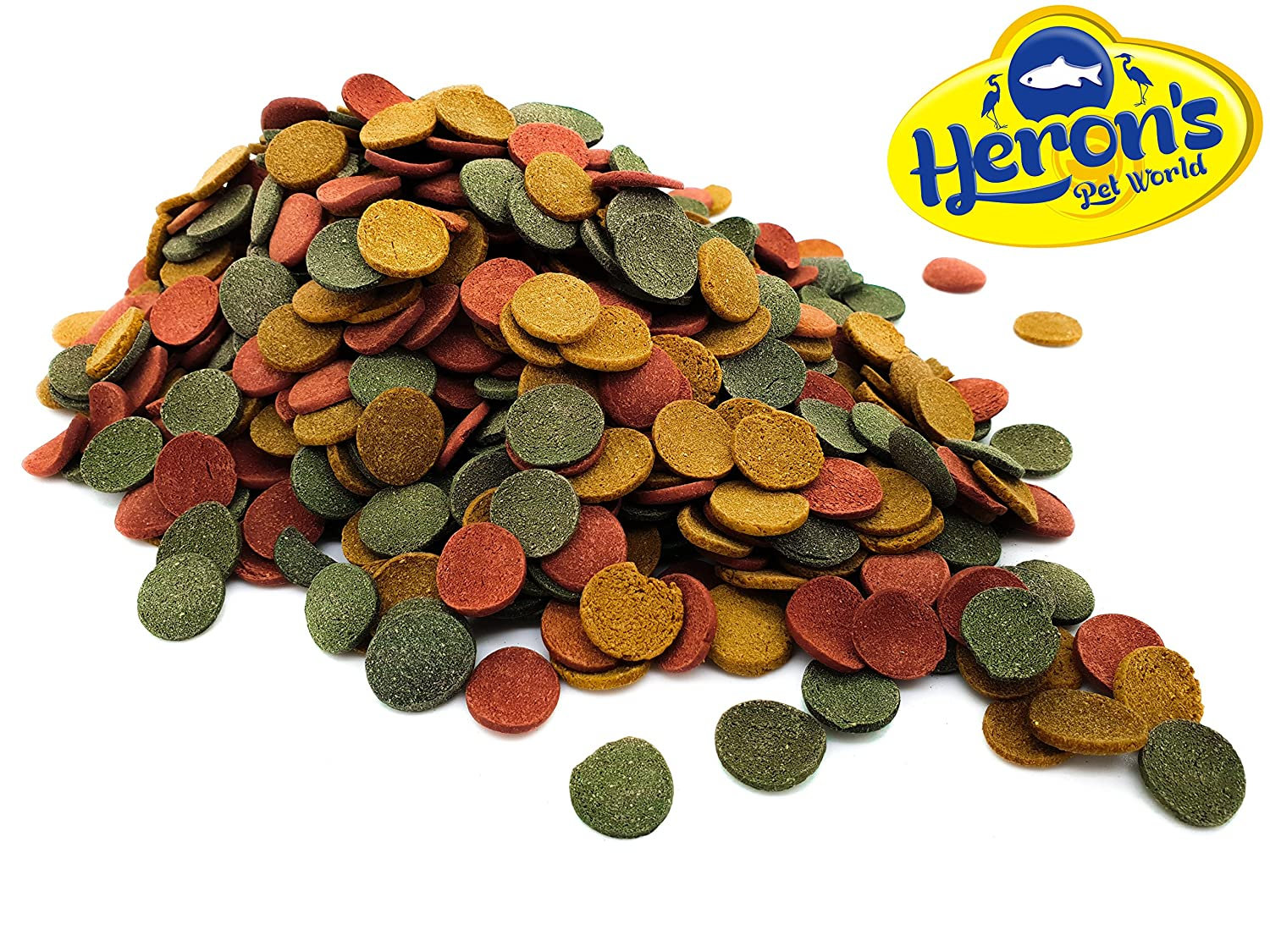 HERONS Algae Wafer Mix 13-15% Spirulina FOR ALL BOTTOM FEEDING TROPICAL FISH Pleco Wafers Loach Cory Snail Shrimp Heron's Pet World Ltd
