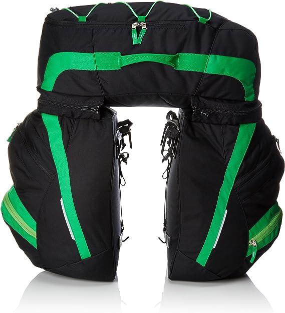 VAUDE SE Traveller Comfort II W/O Rainco Alforja, Unisex Adulto, Negro (Black/Green), Talla Única: Amazon.es: Deportes y aire libre