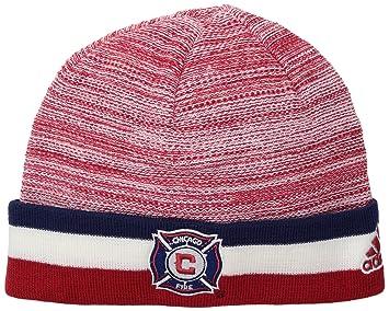 pretty nice d6327 9a445 adidas MLS Chicago Fire Adult Men MLS SP17 Fan Wear Watch Cap,Osfa,Red