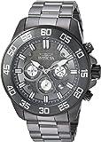 Invicta Men's 'Pro Diver' Quartz Stainless Steel Casual Watch, Color:Grey (Model: 24733)