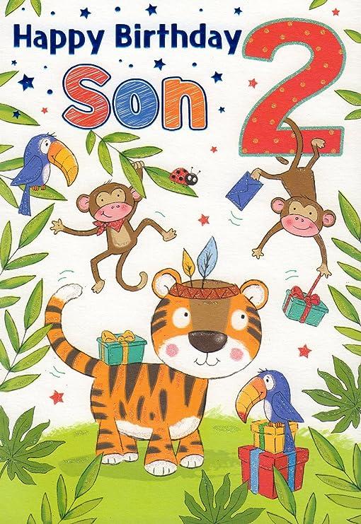 Tarjeta de cumpleaños - Feliz cumpleaños hijo 2: Amazon.es ...