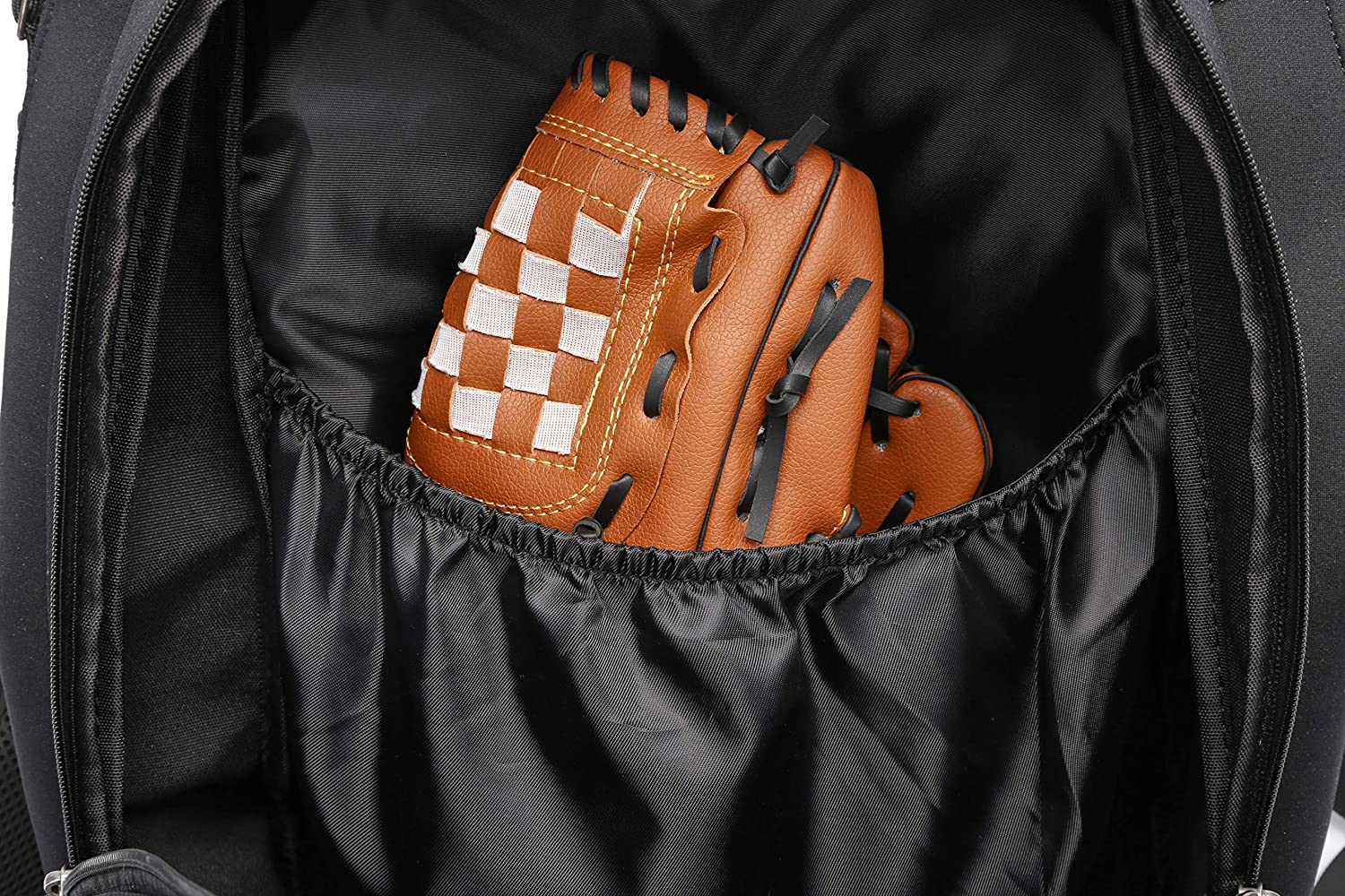 Baseball Backpack with Fence Hook Holds Bat T-Ball Softball Equipment Gear for Youth and Adults Shoes Helmet Thinksea Baseball Bag Glove