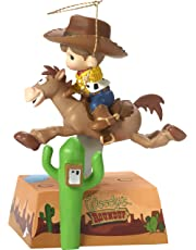 Precious Moments 172060 You've Got a Friend in Me Musical Rocking Bullseye Horse with Boy As Woody Disney Showcase Toy Story Resin Music Box, Multicolor