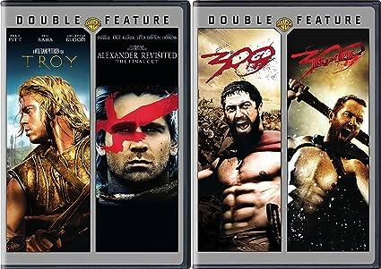 Amazon Com Ancient Battle Action 4 Movie Set Troy Alexander Revisited The Final Cut 300 300 Rise Of An Empire Brad Pitt Eric Bana Orlando Bloom Gerard Butler Colin Farrell Frank