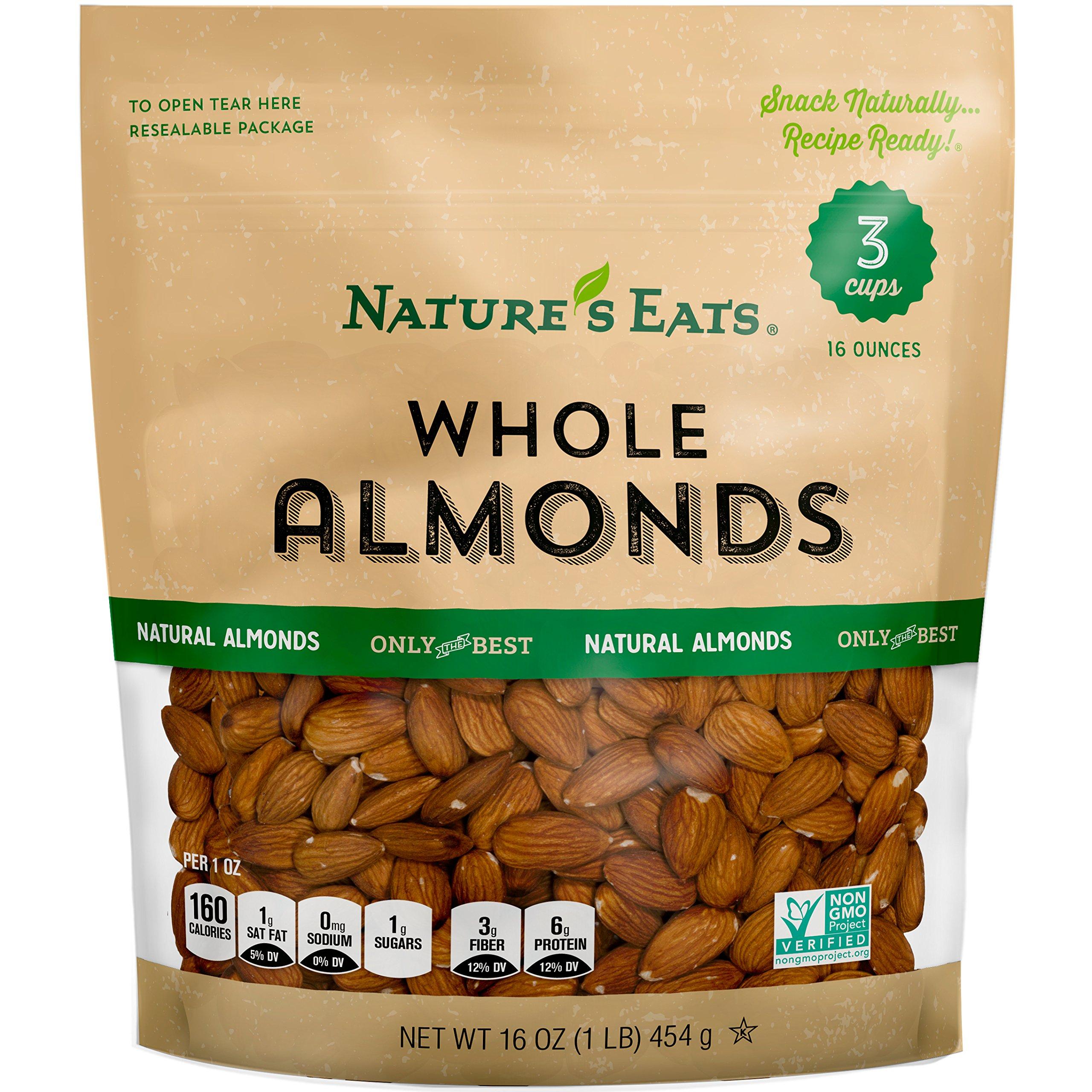 Nature's Eats Whole Almonds, Natural, 16 Oz