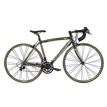 Lombardo Monza 2.0C - Bicicleta de Carretera para Hombre (Ruedas 700c, Antracita/Amarillo, 99% montada, ...