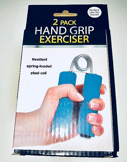 Heavy duty steel spring foam handle targets wrist /& forearm muscles 2 Hand Grip