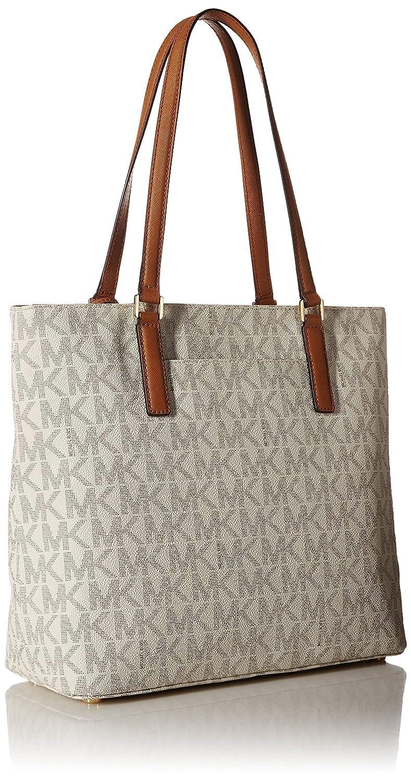 b65a61cec944 Amazon.com: MICHAEL Michael Kors Women's Morgan Medium Tote PVC Logo Vanilla  Handbag: Shoes