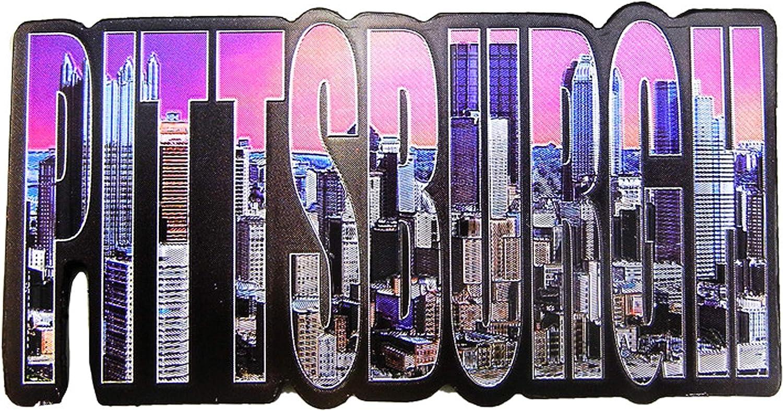 Pittsburgh Skyline Exclusive Photo Letter Foil Refrigerator Magnet Colorful Pittsburgh buildings Souvenir Super-magnetic Fridge Magnet