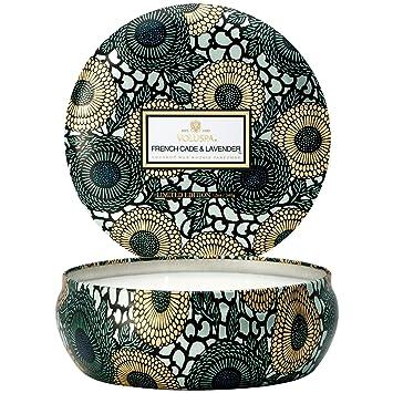 Amazoncom Voluspa French Cade Lavender Large Embossed Glass Jar