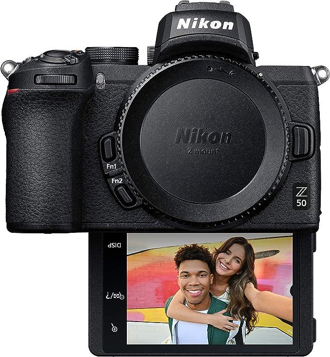 Amazon.com : Nikon Z50 Compact Mirrorless Digital Camera with Flip Under Selfie/Vlogger LCD, Body : Camera & Photo