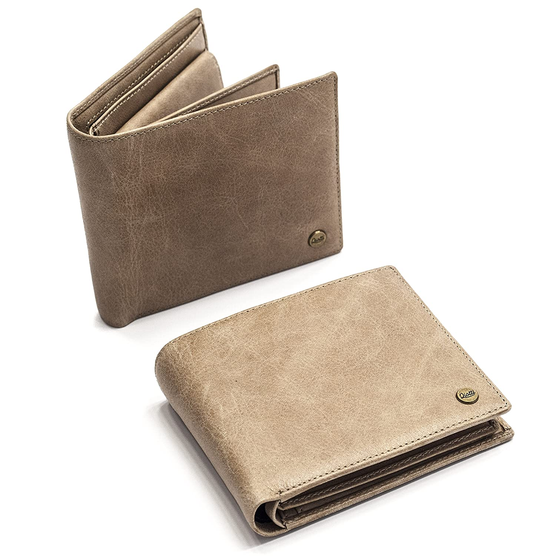 985a066037dda ... QIOTTI ® Leder Leder Leder Geldbeutel aus Echtleder mit Münzfach I RFID  Schutz I Geldbörse I ...