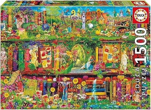 Educa Borrás - Puzzle El jardín Secreto, 1500 Piezas (16766.0): Amazon.es: Juguetes y juegos