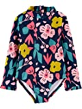 Simple Joys by Carter's Girls' Assorted Rashguard Sets, Navy Floral, 6-9 Months