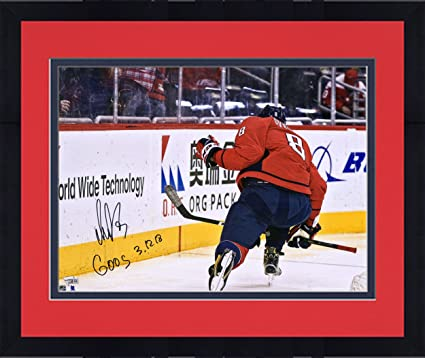 22da085e9 Framed Alex Ovechkin Washington Capitals Autographed 16 quot  x 20 quot   600 Goal Game Celebration Photograph