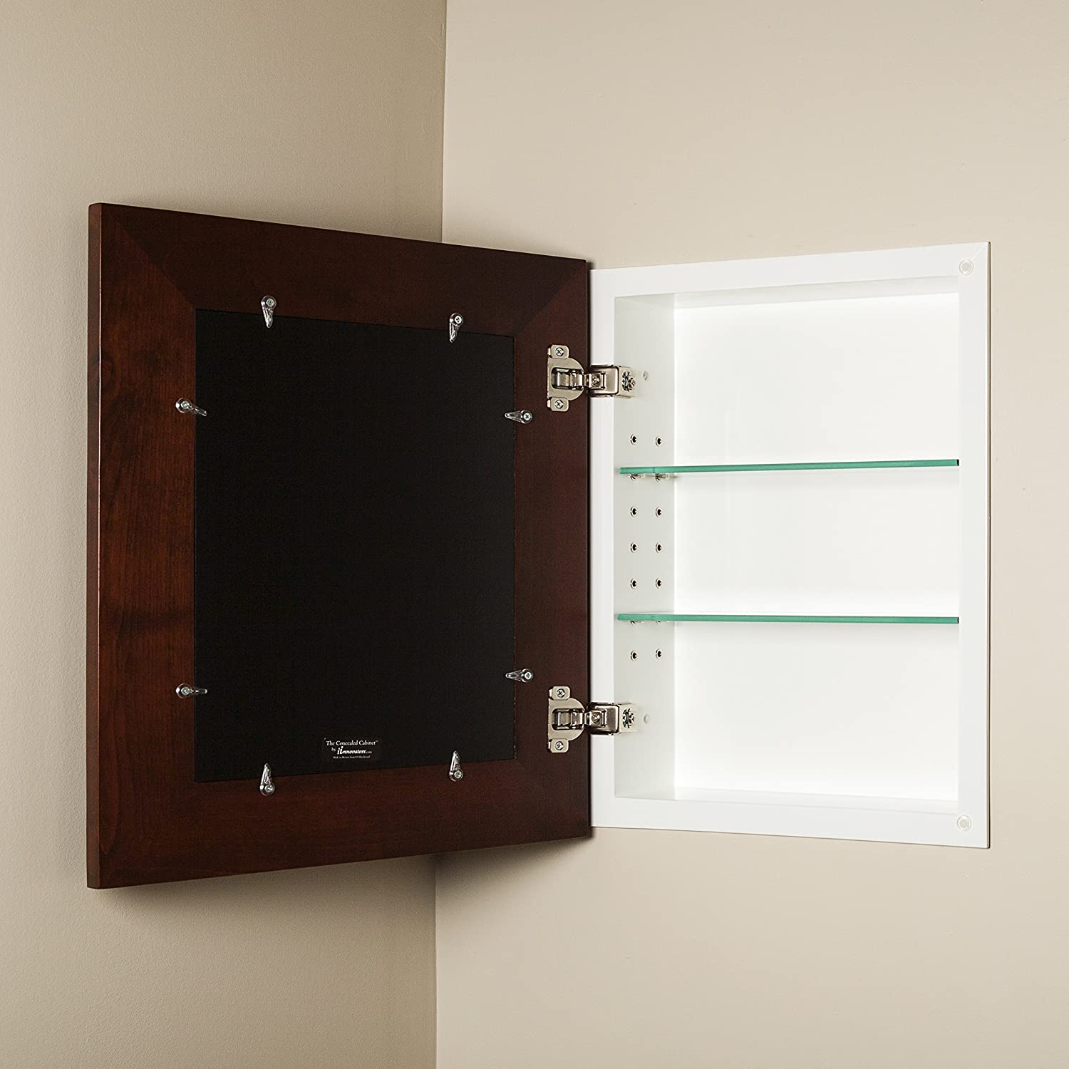 Superieur Amazon.com: 14x18 Espresso Concealed Cabinet (Large), A Recessed Mirrorless  Medicine Cabinet With A Picture Frame Door: Home U0026 Kitchen