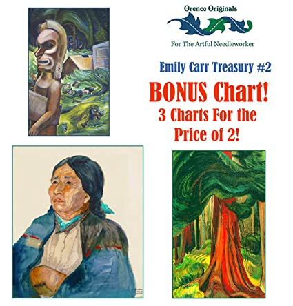 photograph relating to Emily Artful known as : Emily Carr Lavish Treasury# 2-3 Counted Cross