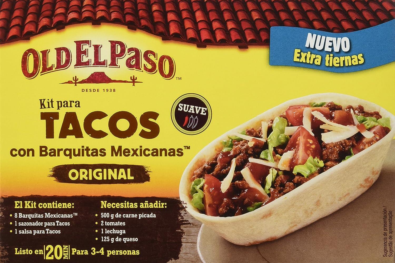 Old El Paso - Kit Para Tacos Con Barquitas Mexicanas 345 g - , Pack de 6: Amazon.es: Alimentación y bebidas