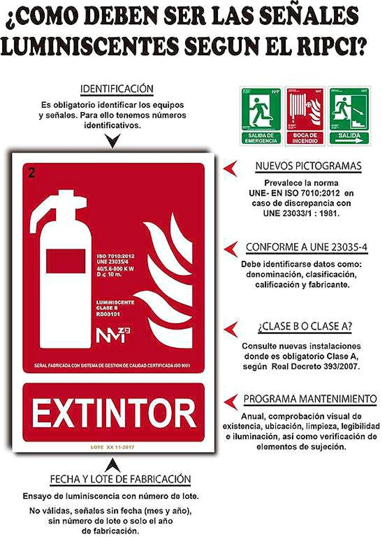 Adhesivo de Vinilo Transarente 10 Unidades Rompase en Caso de Incendio Reves Adhesivo VINILO 23x12cm con CTE Normaluz RD08501 RIPCI y Apto para la Nueva Legislaci/ón