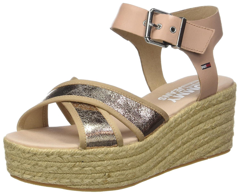 139b3a0ebc9 Tommy Jeans Metallic Flatform Sandal