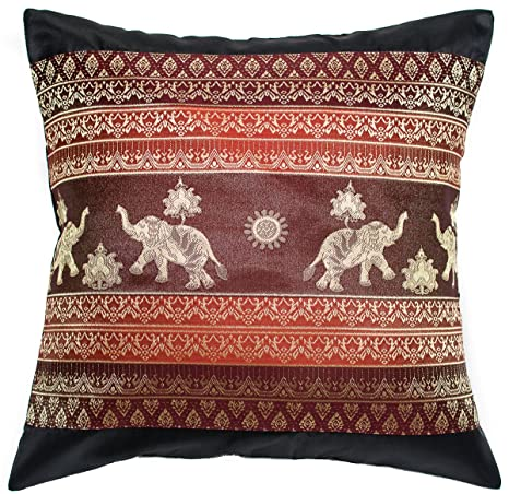Amazon.com: avarada elefante de impresión Sun Throw almohada ...