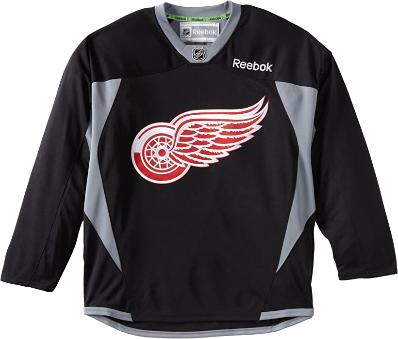 sports shoes 95ea8 fac37 NHL Detroit Red Wings Practice Jersey, Black
