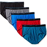Hanes Mens 7500C5 Men's 5-Pack ComfortBlend Dyed Brief with FreshIQ Briefs - Multi