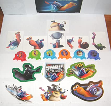 Dreamworks Turbo The Snail Toys Deluxe Party Favors Set of 18 with Mini Launchers, Jumbo