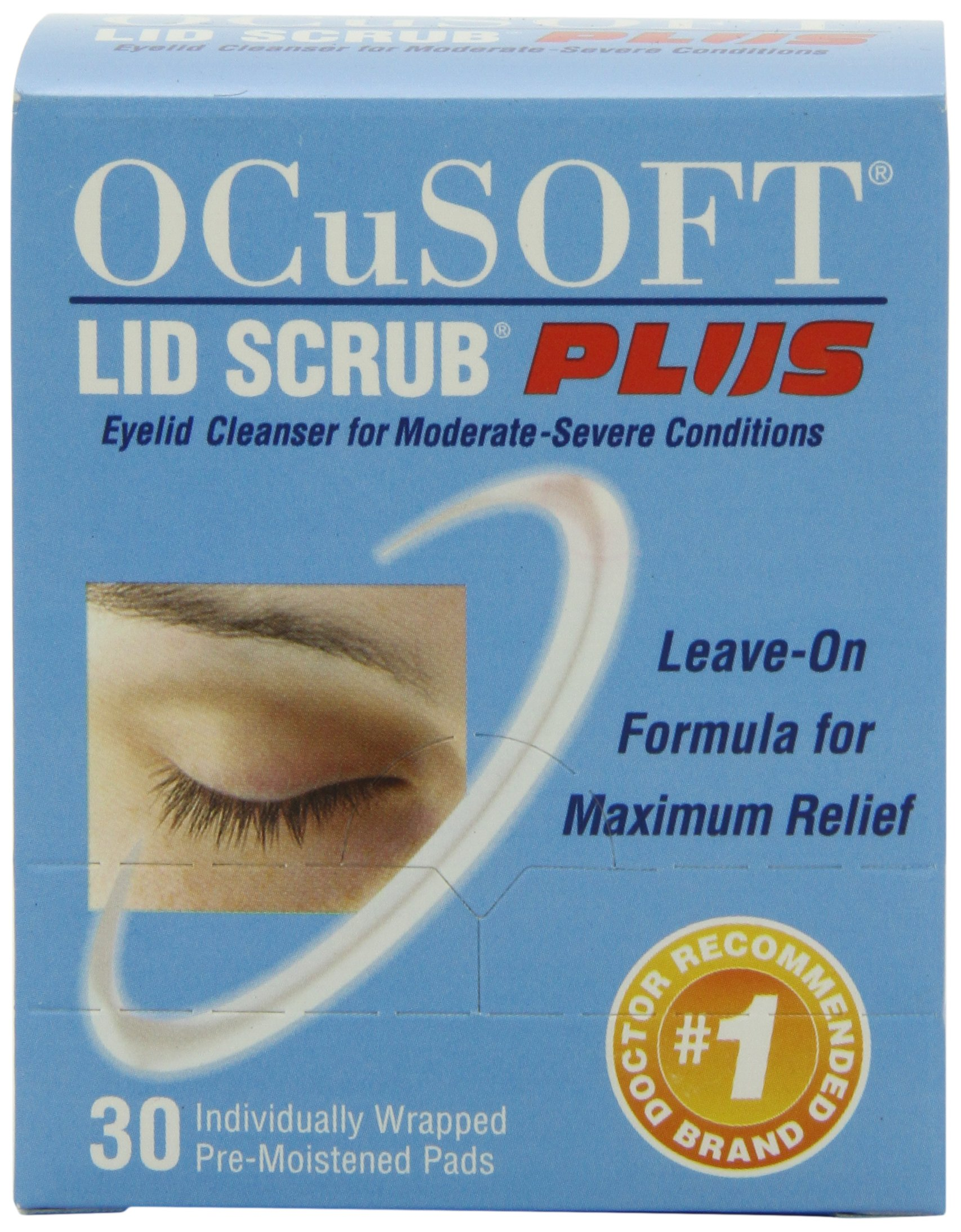OCuSOFT Lid Scrub Plus, Pre-Moistened Pads, 30 Count by OCuSOFT