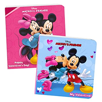 disney mickey mouse valentines day board books boxed set of 2 chunky mini board