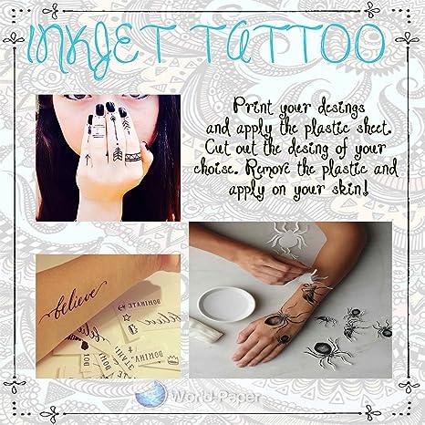 Amazon.com : Inkjet Temporary Tattoo Paper 8.5\