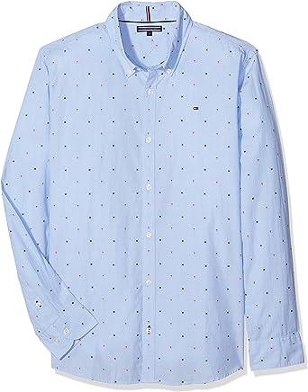 Tommy Hilfiger Ame TH Dobby Shirt L/S Blusa para Niños: Amazon.es: Ropa y accesorios