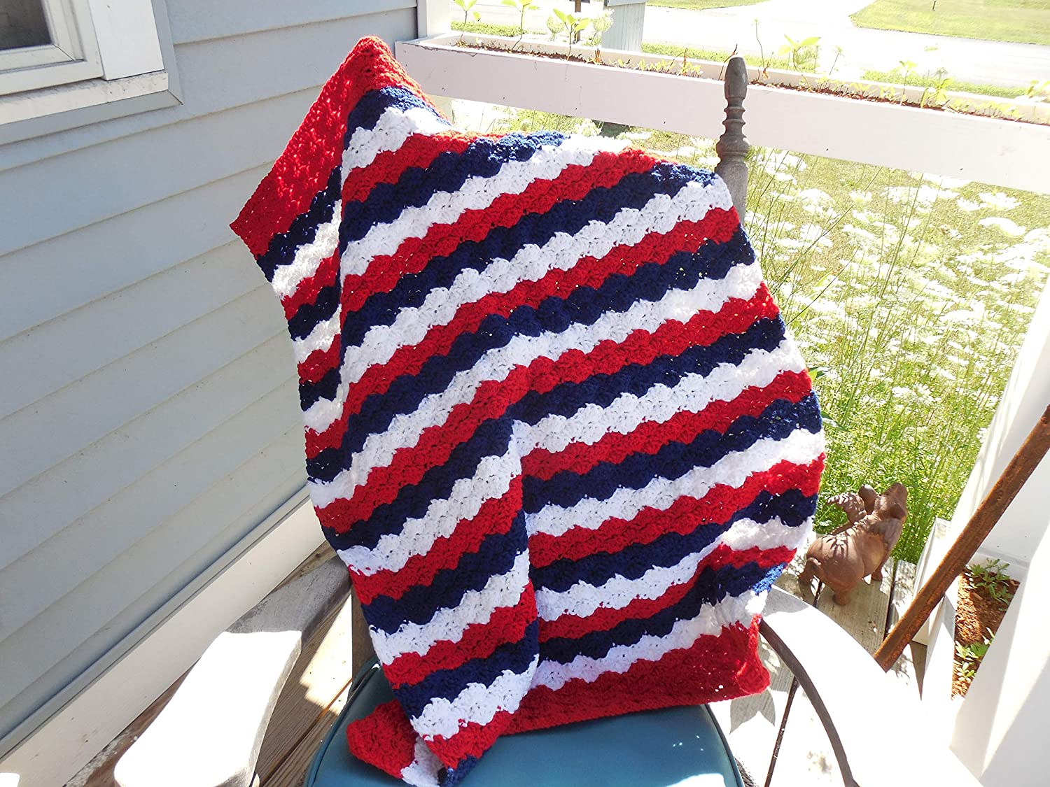 Amazon Patriotic Crochet Baby Blanket Red White And Blue Baby