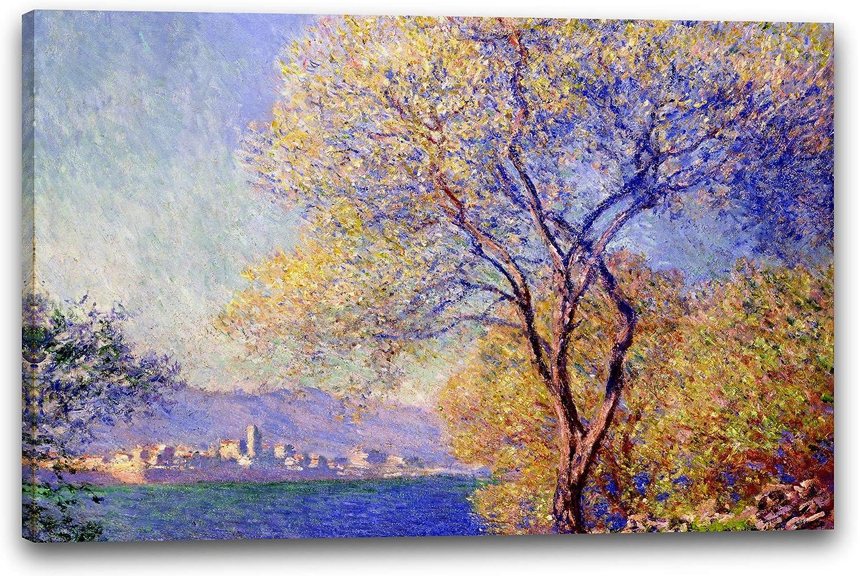 Impresión sobre lienzo (60x40cm): Claude Monet - Antibes, vista desde el jardín