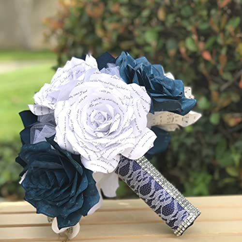 Amazon paper rose music note bouquet shown in navy blue handmade paper rose music note bouquet shown in navy blue mightylinksfo