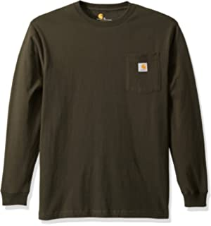72847e0245b6 Amazon.com: Carhartt Men's Workwear Midweight Jersey Pocket Long ...