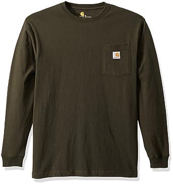 dce2ddd4816e Carhartt Men's Workwear Pocket Long Sleeve T Shirt K126 | Amazon.com