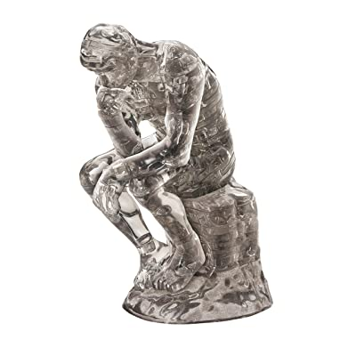 Beverly Crystal Clear 3D Puzzle - The Thinker (43Piece) Crystal Puzzle: Toys & Games