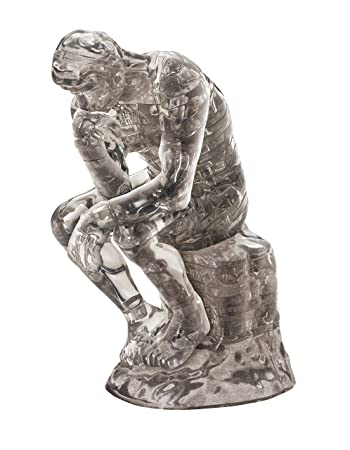crystal 3d standing jigsaw puzzle the thinker 43 pcs pieces le